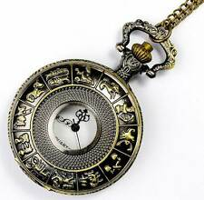 """Big Chinese Zodiac Bronze 4cm Watch & 32"""" Necklace Lucky Feng Shui Birthday Gift"""