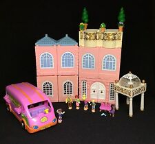 Polly Pocket Mini �� 1999 Stapelhaus Deluxe Mansion - Dream Builders + Bus