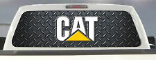 "CATERPILLAR CAT PICK-UP TRUCK REAR WINDOW GRAPHIC DECAL PERFORATED VINYL 66""x22"""