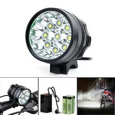 20000LM 9 x CREE XM-L T6 LED 8 x 18650 Bicycle Cycling Light Waterproof Lamp h5
