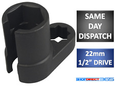 "22mm 1/2"" DRIVE LAMBDA OXYGEN SENSOR OFFSET REMOVAL SOCKET TOOL + HOLE WIRE 26-8"