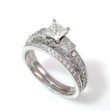 Designer NEIL LANE Diamond Wedding Set Engagement Rings in 14K White Gold | GM
