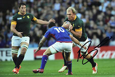 Schalk Burger Signed 12X8 Photo SPRINGBOKS South Africa AFTAL COA (2145)