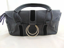BILLY BAG Black Sturdy Hardwearing Leather Bag Very Good Condition