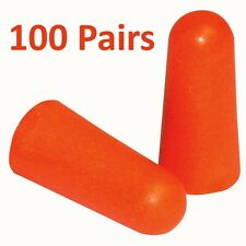 100 Pairs of Soft Foam Ear Plugs Defenders Protectors Earplugs Sleeping Plug