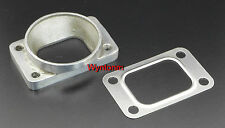 "T3 Turbo Inlet To 3"" Mild Steel Weld Tapped M10X 1.25 Adapter Flange + SS Gasket"