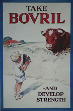 Take Bovril Bull Cattle Boy With Camera Kodak 1930 Advertisement Ad 8287