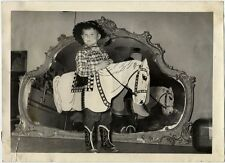 BOY IN WESTERN OUTFIT VINTAGE PHOTO