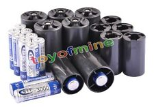 12x AA Rechargeable Battery + 6x C Size + 6x D Size Battery Adapter Converter