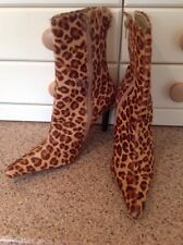 EYE CATCHING GIPSY ANIMAL PRINT FAUX FUR ANKLE BOOTS UK SIZE6 NWOB SLIGHT DEFECT