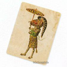 Zebra Mardi Gras Costume Deco Magnet, Decorative Fridge Antique Illustration