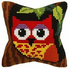 "Owl Cushion Cover 10"" x 10"" Cross Stitch Kit"