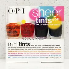 OPI SHEER TINTS Color Tinted Top Coat 4pc Mini 4pk Pack Kit Set Collection NTS05