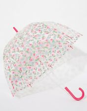 Designer Cath Kidston Women's Cherry Print Clear Birdcage Umbrella - NEW