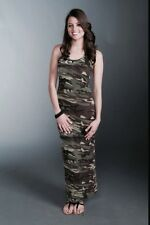 """SUPER NOVA"" SZ LARGE L Camo Camouflage  Tank Maxi Dress Racerback USA NEW"