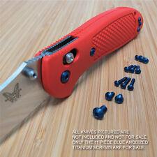 Benchmade 551 550 553 Full Griptilian 11PC Replacement BLUE Titanium Screw Set