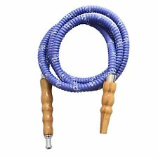 MYA Leather Wrapped Hookah Narghile Hose Light Blue