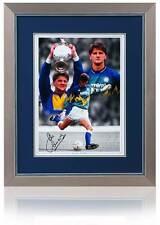 "John Lukic Hand Signed 16x12"" Leeds United Montage AFTAL photo proof COA"