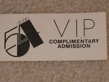 STUDIO 54 ORIGINAL VIP ADMISSION PASS - 1980's