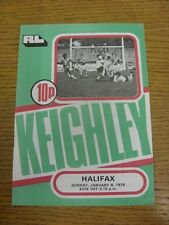 08/01/1978 Rugby League Programme: Keighley v Halifax  . Condition: We aspire to
