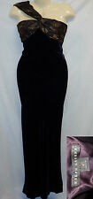 Ralph Lauren 6 BLACK LABEL Long Formal Cocktail Dress Purple Silk Velvet Maxi