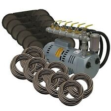 EasyPro PA100W Rotary Vane Pond Aeration System 1 HP Kit with Weighted Tubing