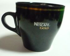 "NESCAFE GOLD COFFEE Black Ceramic Mug Cup from MALAYSIA 3.25"" Tall Nestle 2012"