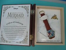 Disney The LITTLE MERMAID Fairy Tale WATCH w/BOOK DISPLAY, Pin - Ltd. 1707/2500