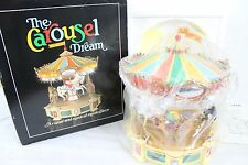 Vintage The Carousel Dream Enesco Carousal 1983 w/ Box Horse Rare Music Box