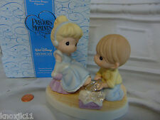 Disney CINDERELLA FIGURINE Glass Slippers Your Love Perfect Fit Precious Moments