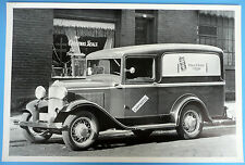 "12 By 18"" Black & White Picture 1932 Ford Panel Truck Mortons Salt Delivery"