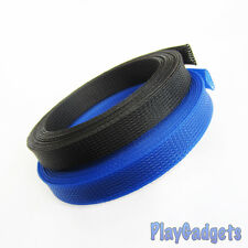 Braided Sleeving Sheathing Cable Black Blue Auto Wire Marine Electrics RC Models