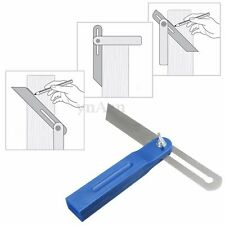 8'' 200mm Adjustable Sliding Bevel Gauge Wood Marking Tool Draw Ruler w/  Handle