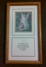 Dicksons Framed Guardian Angel Print With Bible Verse-Kids Room Wall Home Decor