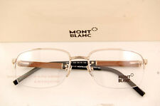 Brand New MONT BLANC Eyeglass Frames 447 028 Real Wood Temples/Gold for Men