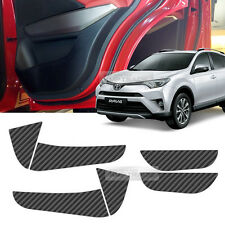 Carbon Black Door Decal Sticker Cover Kick Protector For TOYOTA 2016-2017 Rav4