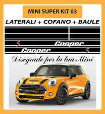 MINI ONE, COOPER, COOPER S ADESIVI SUPER KIT 03 COFANO + LATERALI + BAULE