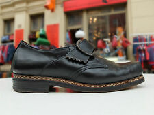 30er True Vintage 30s Herren Schuhe Slipper Halbschuhe 40 Uk 6,5  Leder Schwarz