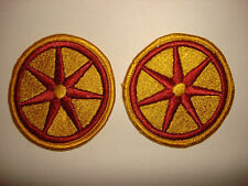 Set Of 2 US Army 107th TRANSPORTATION BRIGADE Merrow Edge Patches