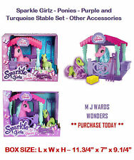 Sparkle Girlz - Ponies - Purple and Turquoise Stable Set - Other Accessories