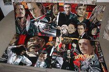 Quentin Tarantino XX Anniversary 8 posters Set - Reprint 98x19 inch mondo