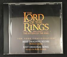 Lord Of The Rings - Return Of The King Soundtrack CD FYC PROMO 19 Tracks RARE