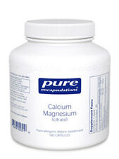 Pure Encapsulations Calcium Magnesium (citrate) 80 mg 180 vcaps - Exp: 03/2018