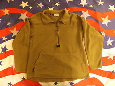 MILITARY SURPLUS POLARTEC FLEECE SHIRT MEDIUM PULL OVER BROWN USMC