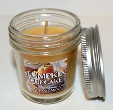 NEW BATH & BODY WORKS PUMPKIN CUPCAKE MASON JAR SCENTED MINI CANDLE 1.3 OZ SMALL