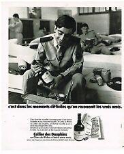 PUBLICITE ADVERSTISING  1975  CELLIER DES DAUPHINS  vin