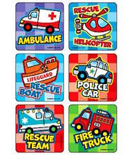 18 Kiddie Vehicles Transportation Planes Cars Trains Trucks Stickers Party Favor