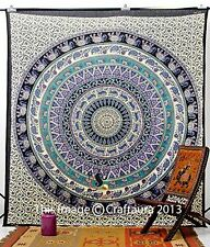 Hippie Elephant Tapestries, Large Size Tapestry Wall Hanging, Mandala
