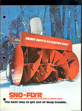 "1972 ESKA 20"" / 26"" ROTARY SNOW BLOWER  SNO-FLYER BROCHURE"