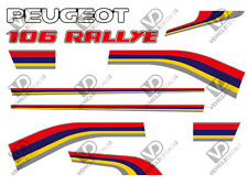 PEUGEOT 106 S1 RALLYE REPRODUCTION DECALS STICKERS (FULL CAR SET)